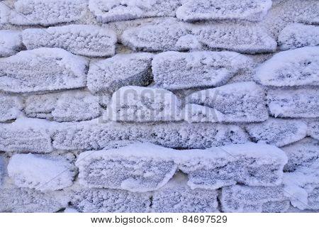 Frosty Stone Wall Background