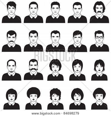 people face, avatar icon,