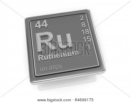Ruthenium. Chemical element. 3d