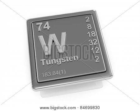 Tungsten. Chemical element. 3d