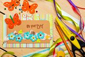 picture of card-making  - scrapbook background - JPG