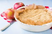 stock photo of crust  - Pie or tart crust is ready for blind baking selective focus - JPG