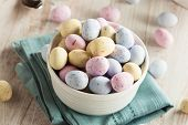 image of easter candy  - Sweet Sugary Easter Candy in a Bowl - JPG