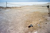 image of shiraz  - Dry lake with abandoned shoes near Shiraz Iran - JPG