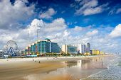 ������, ������: Daytona Beach Florida USA beachfront skyline