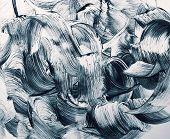 stock photo of stroking  - grunge line art brush strokes design background - JPG