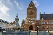 picture of gothic  - Town hal in Roskilde is 19th century building in Neo - JPG