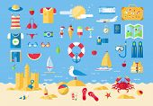 pic of passenger ship  - Flat modern design vector illustration concept of planning a summer vacation - JPG