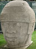 Olmec Indian Head Statue