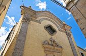 pic of pilaster  - Perspective of an historical church of Altamura - JPG
