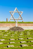 stock photo of piety  - Small Fortress Theresienstadt with cemetery - JPG