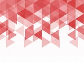 picture of geometric shapes  - red and pink polygon geometric abstract background triangle shapes of mosaic style with spacr for text - JPG