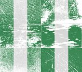 pic of nigeria  - Flag of Nigeria with old texture - JPG