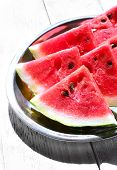foto of watermelon slices  - Fresh slices of watermelon - JPG