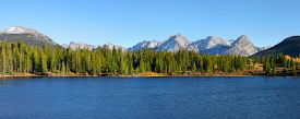 picture of mola  - Panoramic view of scenic Molas lake in colorado - JPG