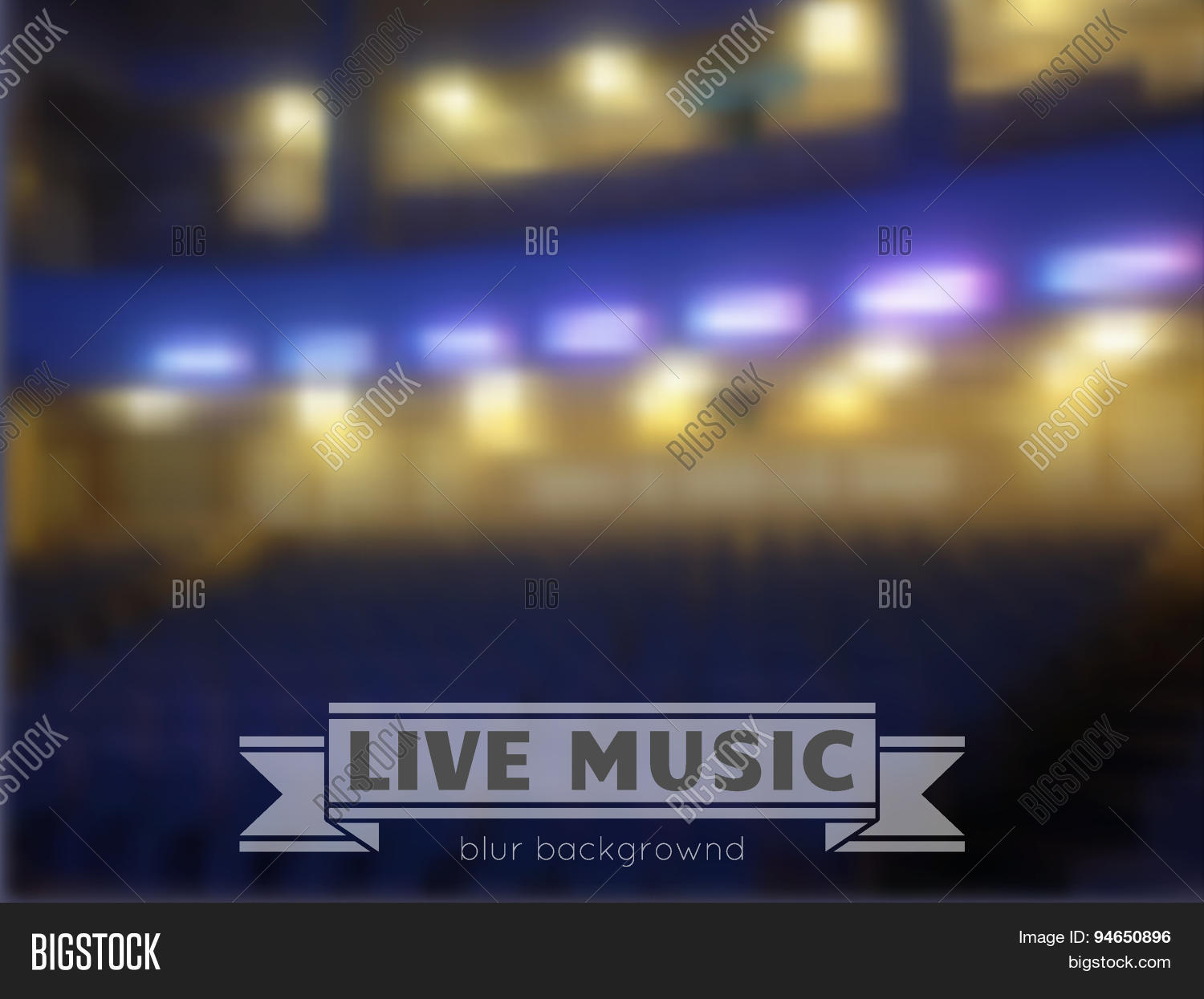live music conctrt blur background stock vector stock