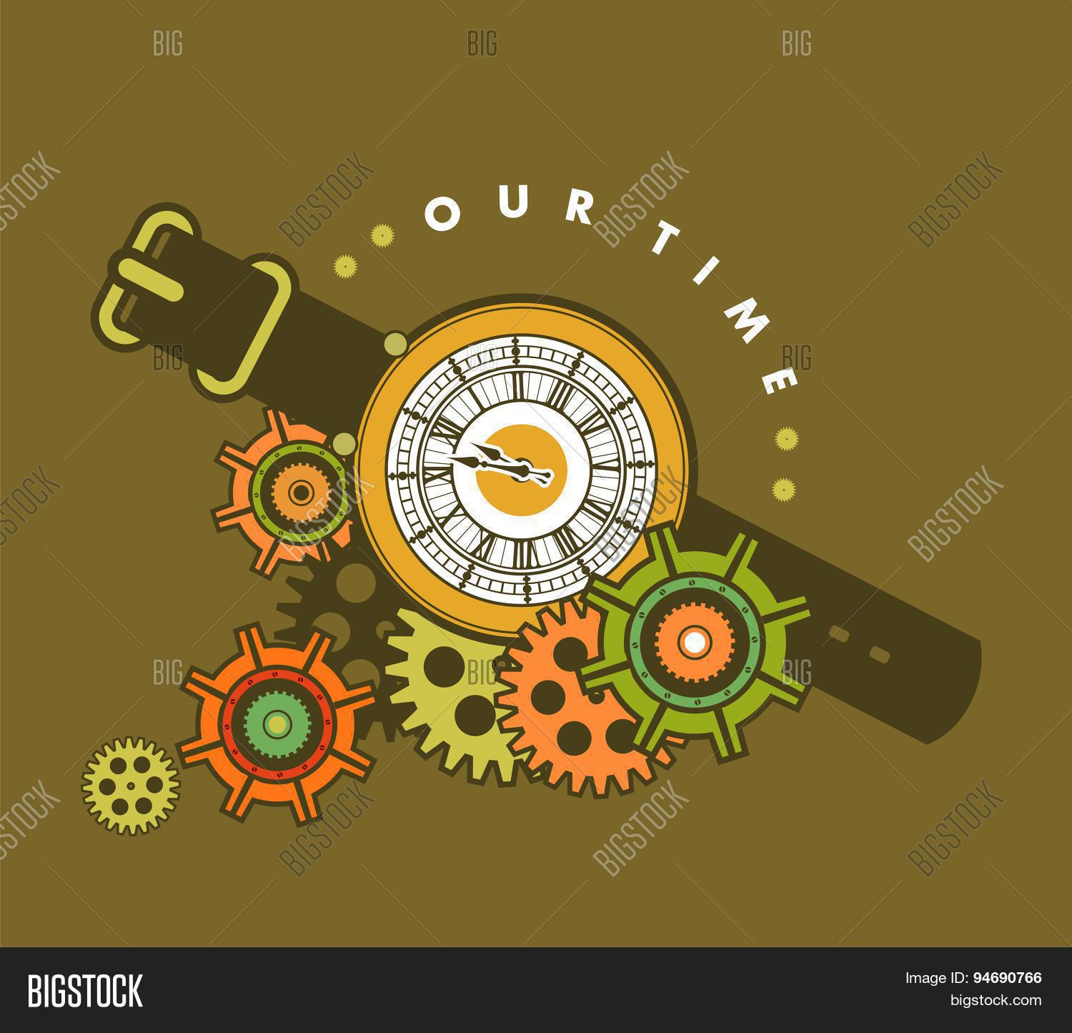 Steampunk Clock Vector & Photo | Bigstock