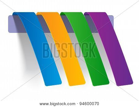 Colorful Web Stickers, Tags and Labels