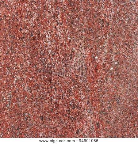 Red Granite Background With Natural Pattern.