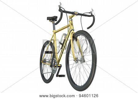 Golden Bicycle Closeup