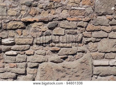 Antique Textured Wall From Brick In Rome