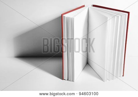 Blank book on white background