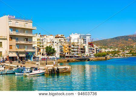 Agios Nikolaos Crete Greece Waterfront
