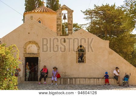 Church Panagia Kera In Kritsa In Crete