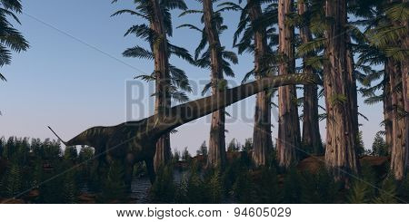 walking mamenchisaurus in tempskya grove