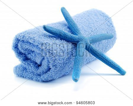 Blue Towel With Starfish