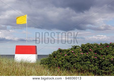 Lifeguard on the beach in Denmark