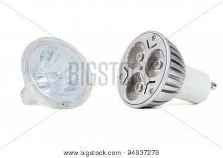 Led Light Bulb And Halogen Lamp