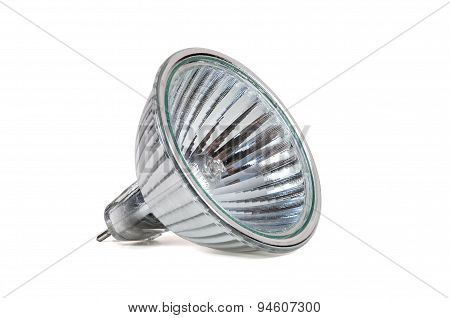 Halogen Lamp Isolated On White Background