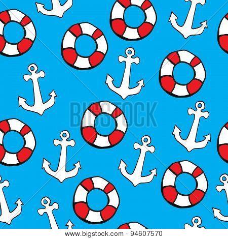 Seamless pattern Sea theme