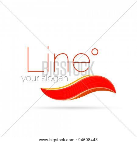 Swirl line design. Modern layout for your message, slogan or brand name