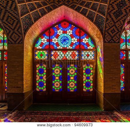 Nasir Al-Mulk Mosque windows