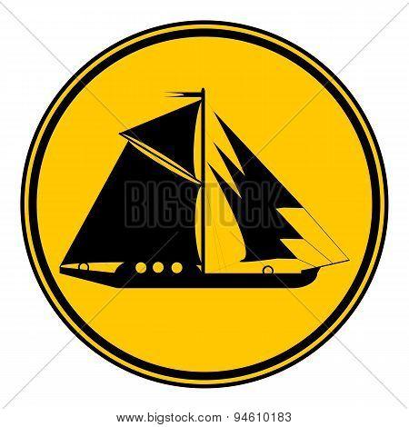 Sailing Ship Button.