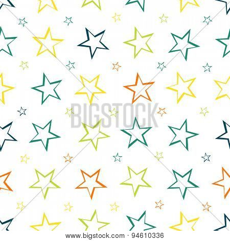 Seamless pattern background with stars