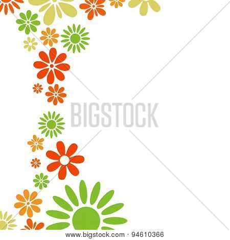 Various colorful flowers frame
