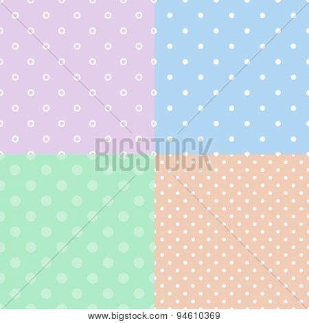 Colorful polka dot seamless pattern background