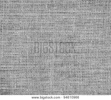 Dark medium gray burlap texture background