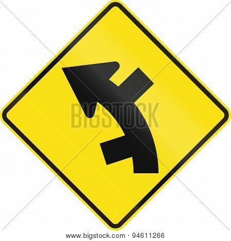 Offset Roads In Curve In Australia