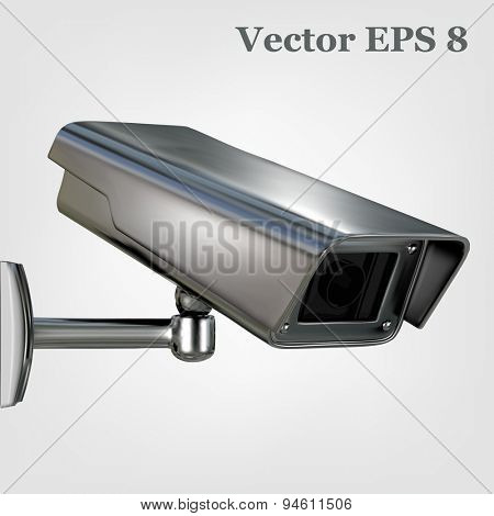 Surveillance security camera, vector eps 8.