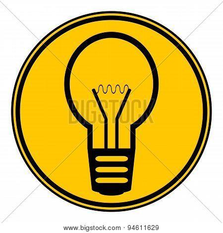 Light Bulb Button.