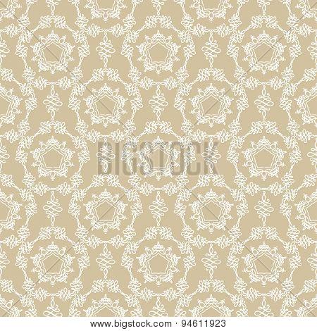 Elegant beige seamless pattern. Vintage style.