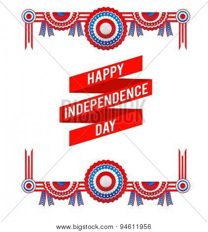 Independence day decorations. Holiday design with place for text for advertising, leaflet, cards, invitation and so on.