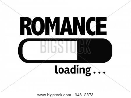 Progress Bar Loading with the text: Romance