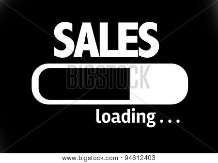 Progress Bar Loading with the text: Sales
