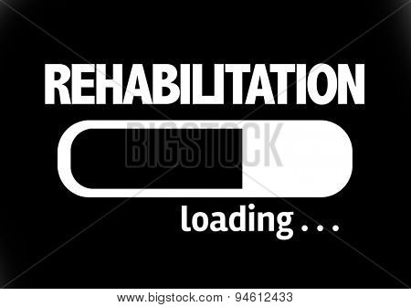 Progress Bar Loading with the text: Rehabilitation