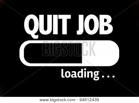 Progress Bar Loading with the text: Quit Job